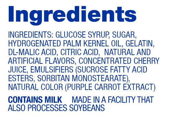 Cherry Hi-Chew Ingredients